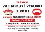 ZABIJAČKOVÉ VÝROBKY Z KOTLE NA OBECINÁCH  sobota 19.10.